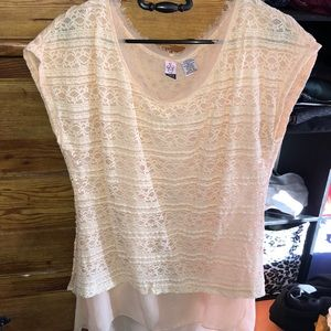 Lacy pink top
